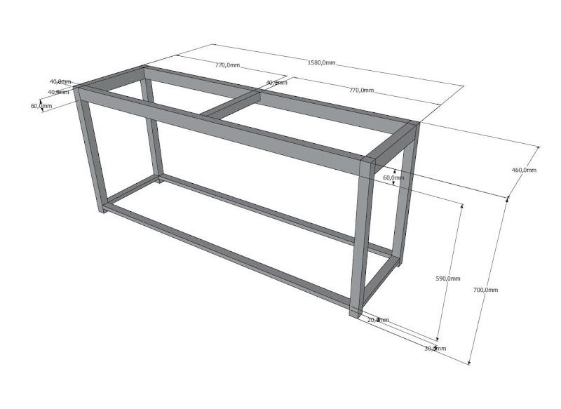 Estructura de mesa de hierro para acuario me he pasado - Estructuras para mesas ...