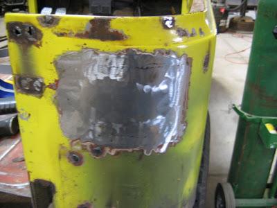 Ground down stich welds