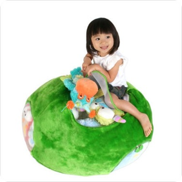 Oval Animal Toy Bag in Green