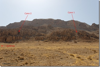 Qumran Caves 1 and 2 area, tb052308448 marked