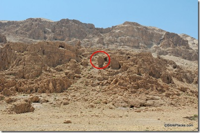 Qumran area of Cave 1, tb051106999 marked
