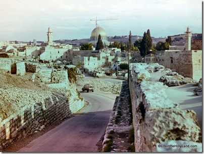 Old City southern wall with Dome of the Rock, db6401192102