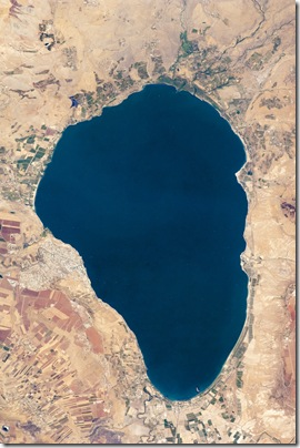 Sea of Galilee, NASA image