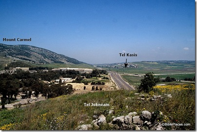 Kishon Pass and Mount Carmel from Tell Jokneam, tbs104069900