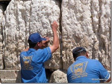 Western Wall men cleaning out prayers6, tb090402880
