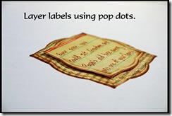 Label with pop dot w border