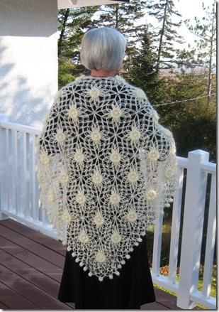 Angora shawl-back