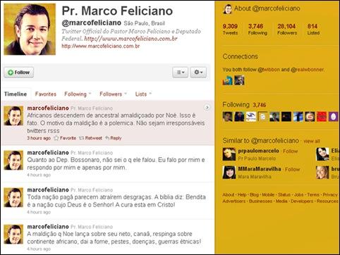 twitter deputado Marco Feliciano
