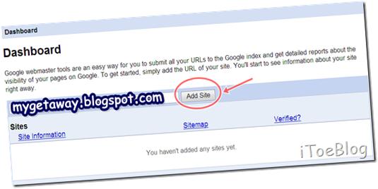 1.การทำ Sitemap ให้ Blogger