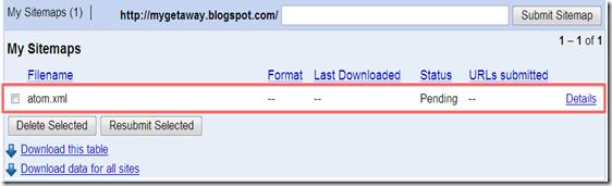 5.การทำ Sitemap ให้ Blogger