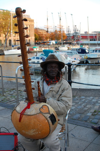 Kora player in Bristol
