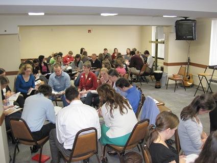 Meeting in groups