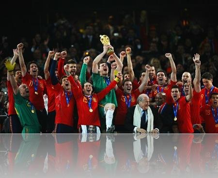 sepanyol meraikan kemenangan piala dunia 2010