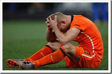 reaksi Sneijder ketika Belanda kalah