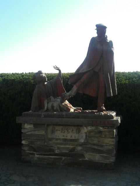 貫一とお宮の銅像