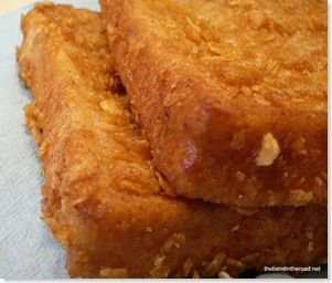 Crispy French toast closeup