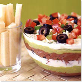 Weight Watchers Layered Mexican Bean Dip
