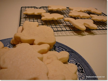 cat sugar cookies waiting for frosting
