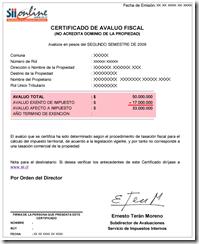 certificado tipo