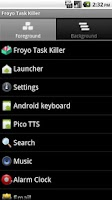 Screenshot of Froyo Task Killer