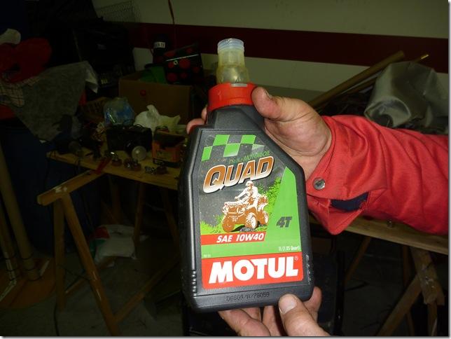 cambio de filtro de aceite quad LTZ