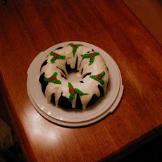 Easy Christmas Holly Bundt Cake
