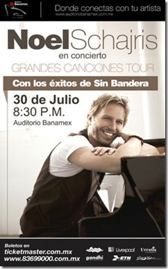 noel schajris en monterrey 2011 concierto sin bandera