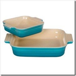 9' Square Baking Dish with Bonus 5' Baking Dish in Caribbean
