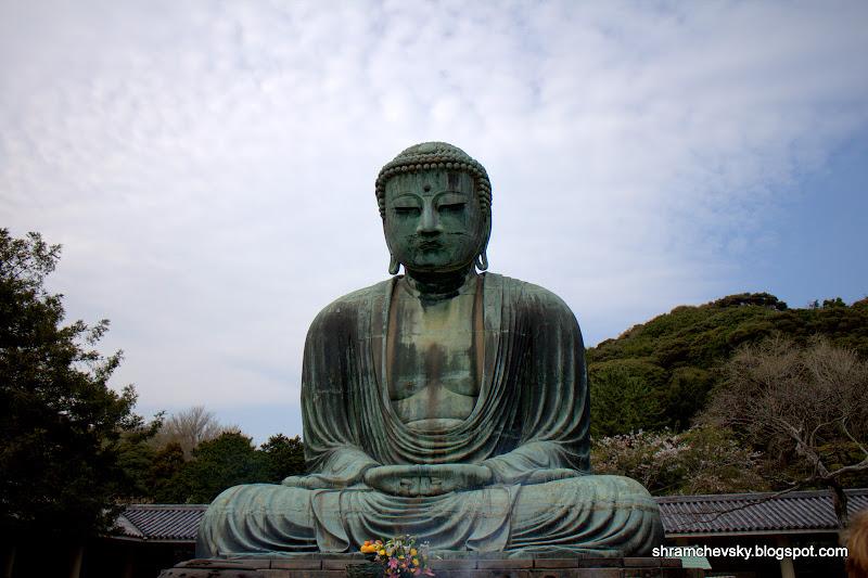 Japan Kamakura Daibutsu Giant Buddha Statue Япония Камакура Дайбуцу Гигантская Статуя Будды