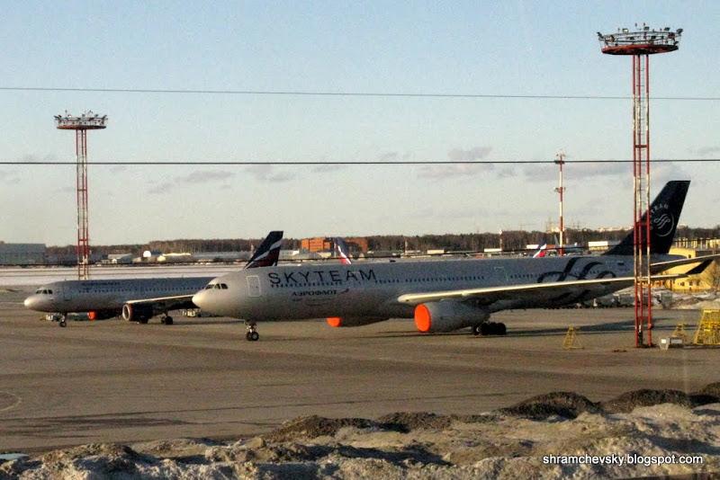 Россия Москва Шереметьево 2 Аэрофлот Sky Team Airbus Аэробус