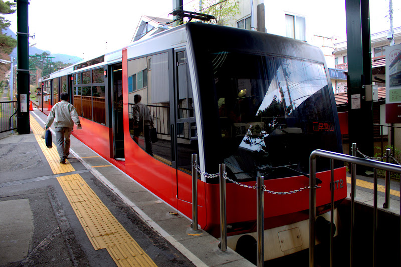 Japan Tokyo Hakone Yumoto Gora Cable Car Япония Токио Хаконе Юмото Гора Трамвай Канатный