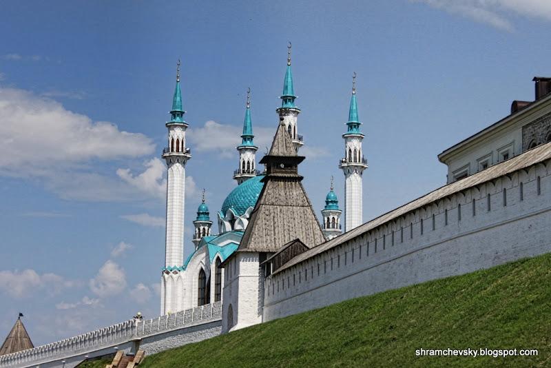 Russia Tatarstan Kazan Kremlin Tower Qolsharif Mosque Россия Татарстан Казань Кремль Башня Мечеть Кул Шариф