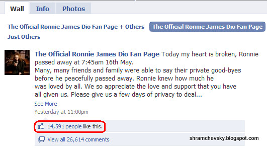 Ronnie James Dio Dead Facebook Ронни Джеймс Дио Умер Фейсбук