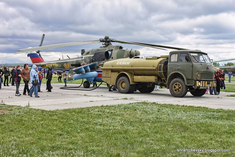 Миль Ми-24 Заправка МАЗ бензовоз