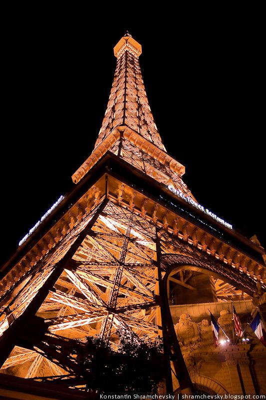 США Америка Невада Лас Вегас Казино Отель Стрип Париж Эйфелева Башня