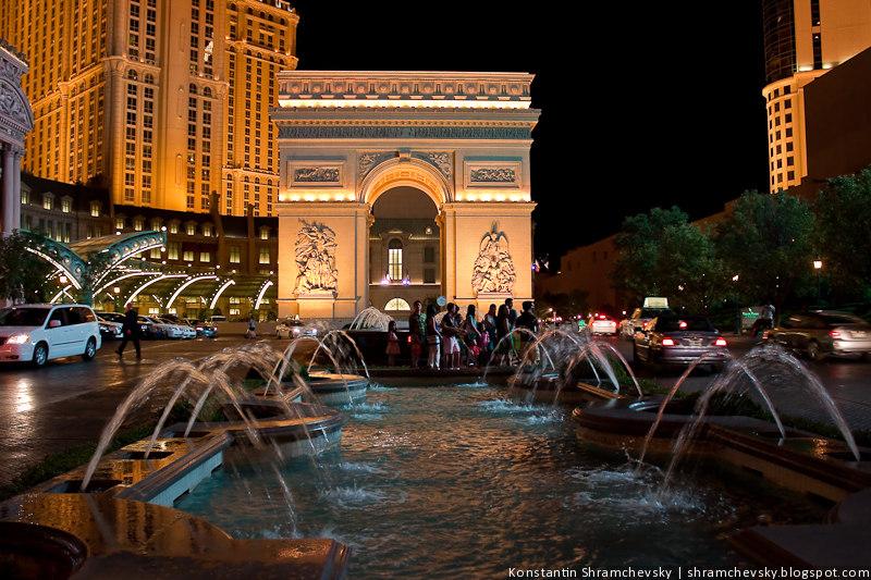 США Америка Лас Вегас Казино Отель Париж Триумфальная арка