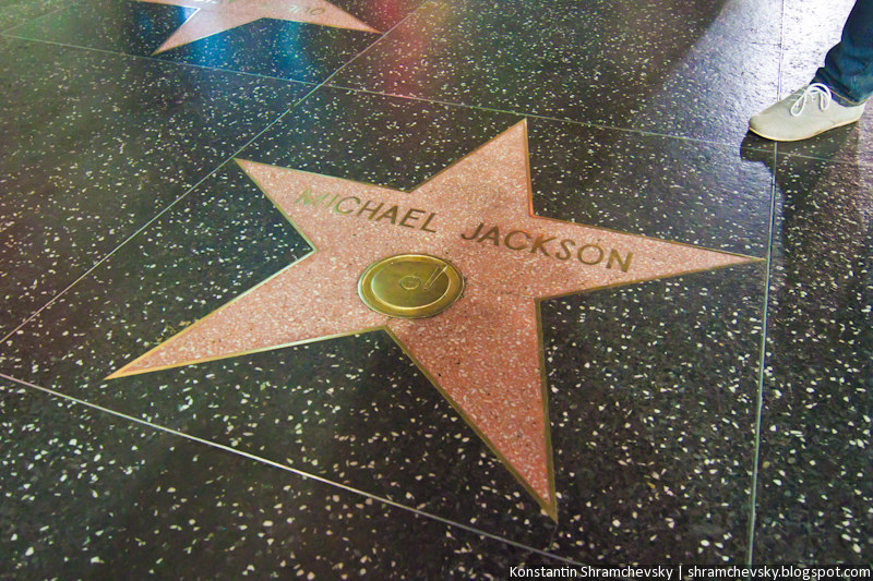 USA California Los Angeles Hollywood Boulevard Michael Jackson Star США Калифорния Лос Анджелес Голливуд Бульвар Аллея Звёзд Звезда Майкла Джексона