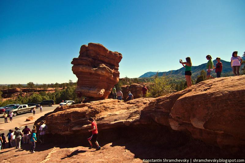 USA Colorado Springs Garden Of The Gods США Колорадо Спрингс Сад Богов