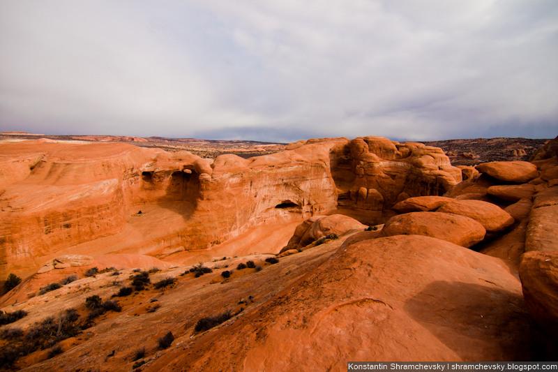 USA Utah Moab Arches National Park Delicate Arch США Юта Моаб Национальный Парк Арки Деликатная Нежная Арка