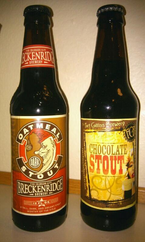 USA Colorado Beer Breckenridge Oatmeal Stout Fort Collins Chocolate Stout Брекенридж Овсяной Стаут Форт Коллинз Шоколадный Стаут Пиво США Колорадо