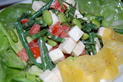 solterito salad – edamame, long beans, tomatoes, queso fresco ...