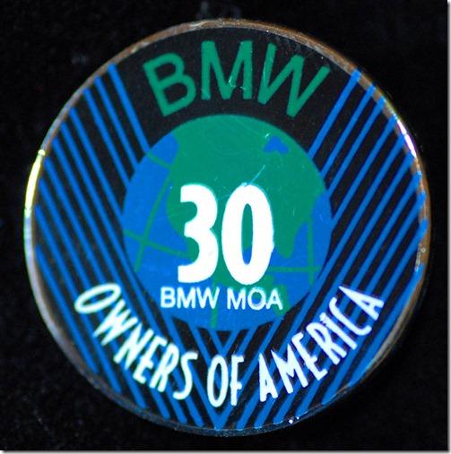 bmwmoa 30 year pin