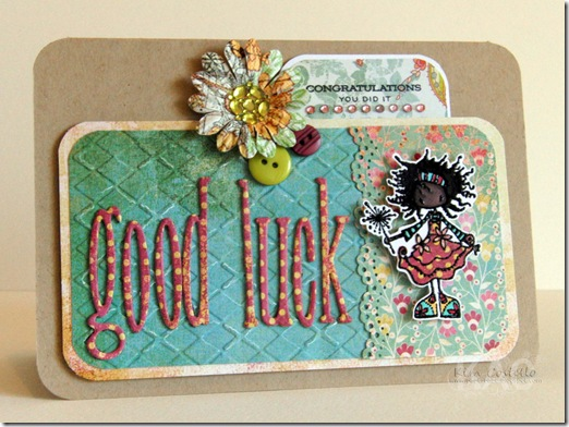 Embossing ~ good luck