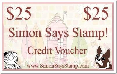 Simon Says Stamp $25 Credit Voucher