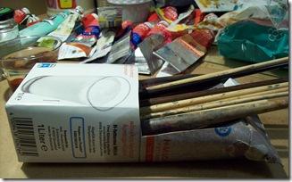 Pinselablage Tetrapack (c) Naseen Kiliani