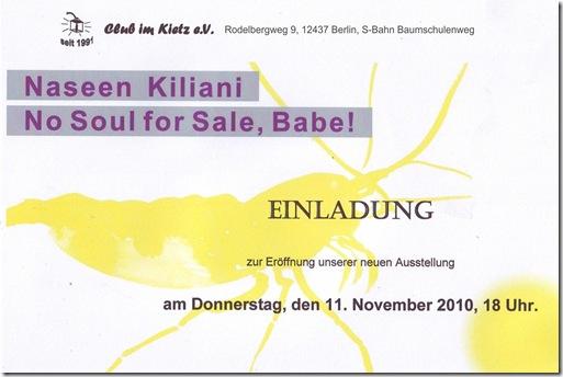 Einladung Vernissage Club im Kietz Baumschulenweg Naseen Kiliani