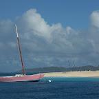 Das rosa Boot vor Palm Island