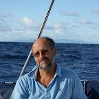 Henning, der Skipper auf der Übeführung der Ronja
