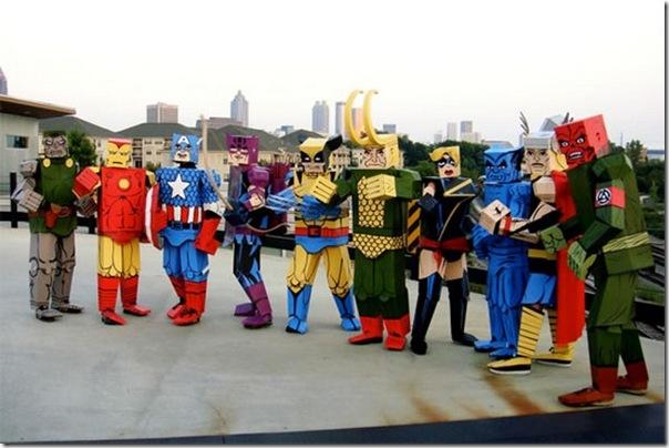 Trajes de Super-Heróis de papelão (1)