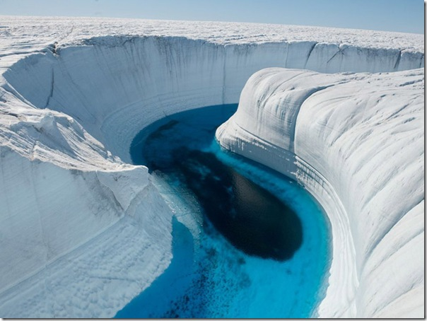 Ice Canyon na Groenlândia